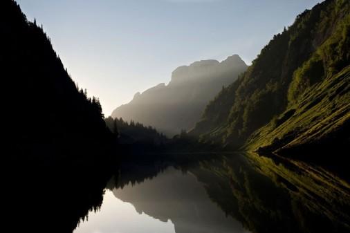 Silence Gaia Photographic Nature Lake Harmony Sigh Mounatins Wallpaper Hd